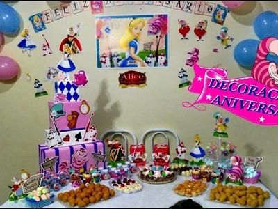 Decoração festa de aniversario tema  Alice no País das Maravilhas