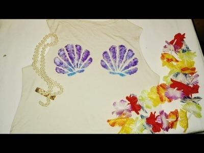 DIY- Blusa de conchas do Mar Tumblr.