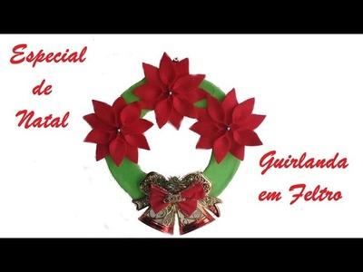 Guirlanda de feltro - Decoração de Natal