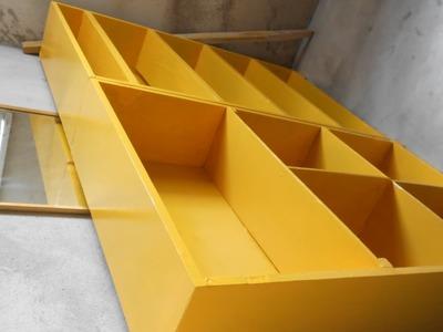 Idéias de Decoração: Estantes feitas com caixas de bacalhau