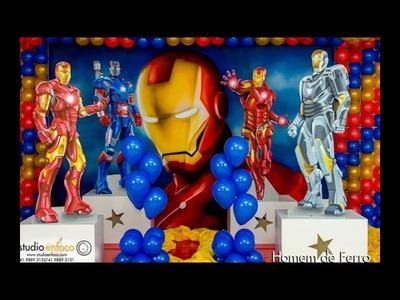 Ideias decoração festa Aniversário Homem de Ferro.