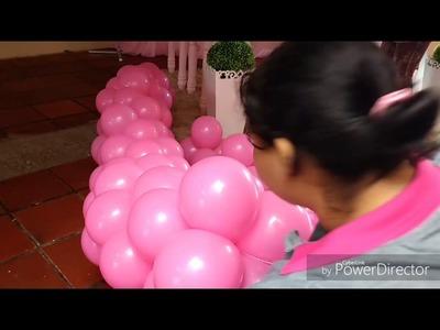 Making Off Decoração Tema Minnie - Aniversário de 1 Ano