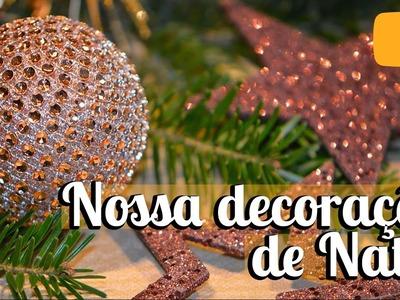 Nossa decoração de Natal