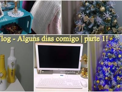 Vlog - PC novo+ Vou fazer sorteio + Pintando e mudando a decoração da arvore de natal- 1º
