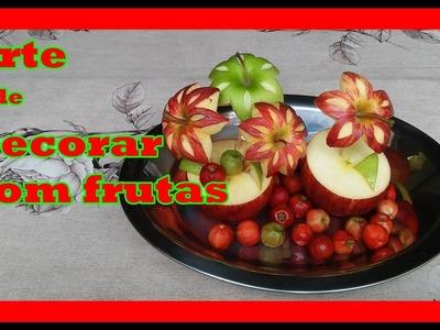 Artes e decoração com maçãs