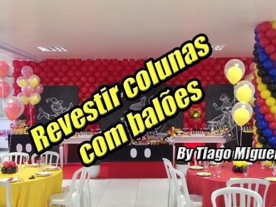 Decoração com balão Coluna com Balões Easy System - Tiago Miguel
