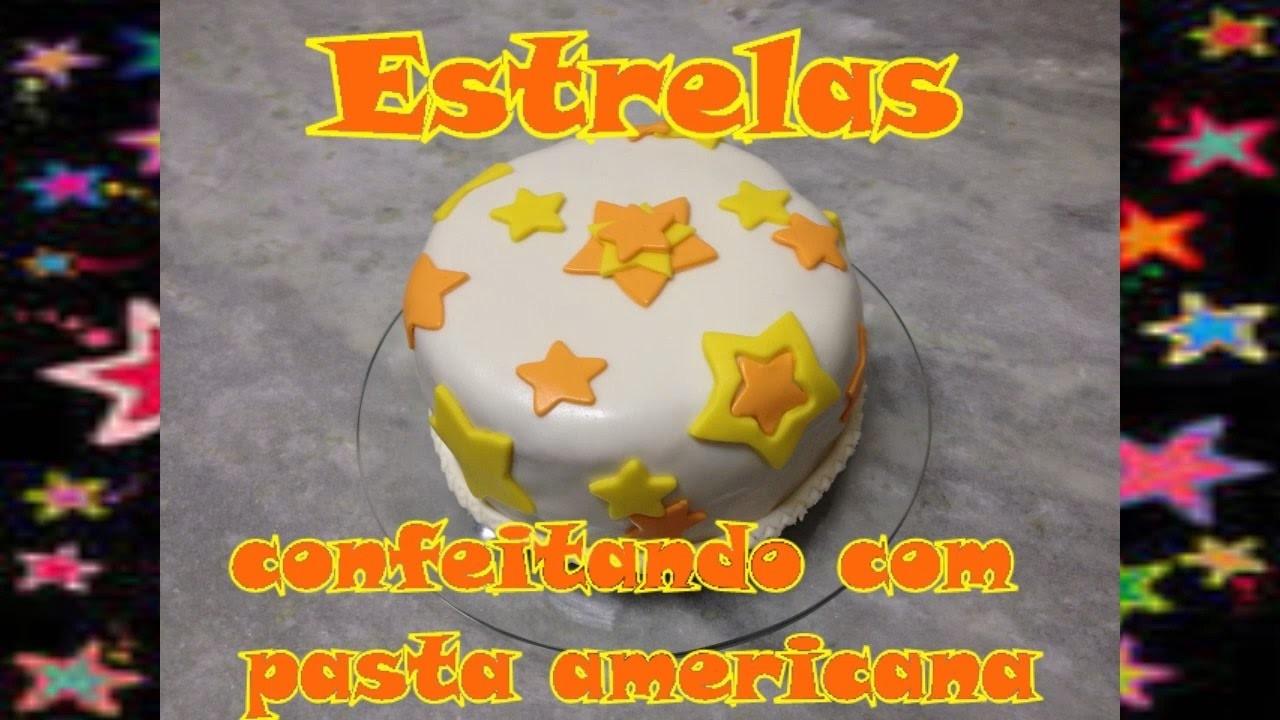 Decoração de estrelas   pasta americana   #muitofácil