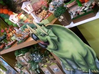 Decoração de festa dinossauros