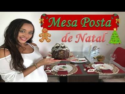 Decoração de Natal- Mesa Posta por Michely Andrade.
