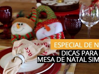 Decoração simples para a Mesa de Natal - por Patricia Junqueira
