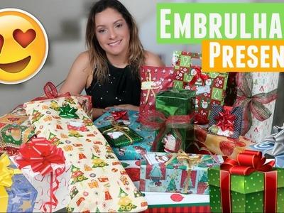 Embrulhando os Presentes de Natal + Decoração de Natal #EspecialdeNatal5 | Por Glaucia Sioli