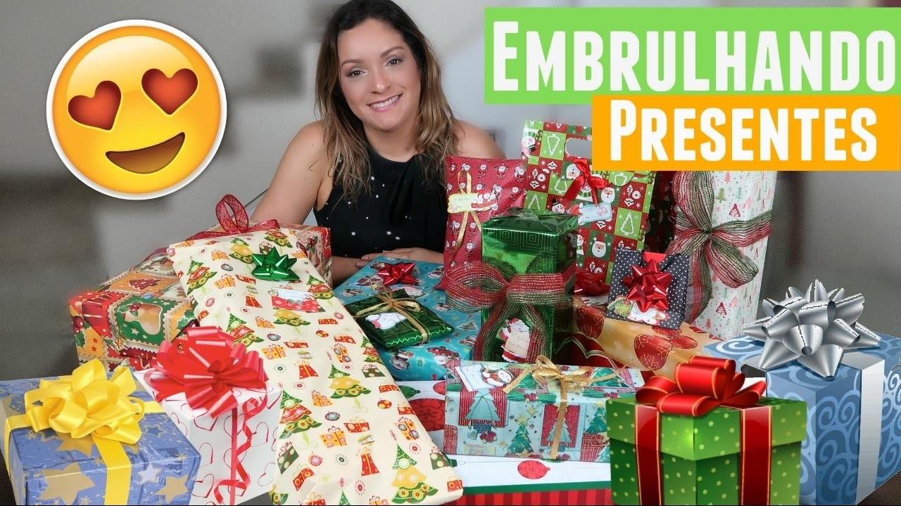 Embrulhando os Presentes de Natal + Decoração de Natal #EspecialdeNatal5   Por Glaucia Sioli