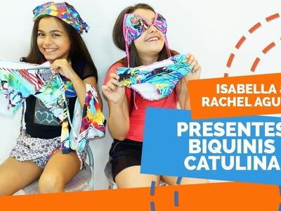 Abrindo Biquinis Catulina DIY verão praia piscina viagem Isabella e Rachel Aguiar Atriz Mirim