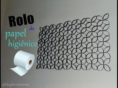 Decoração feita com rolo de papel higiênico, por Larissa Vieira