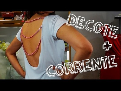 DIY Decote nas costas com correntes