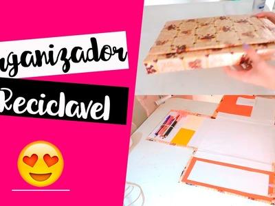 DIY   Organizador de Papelão - #KATYATODODIA