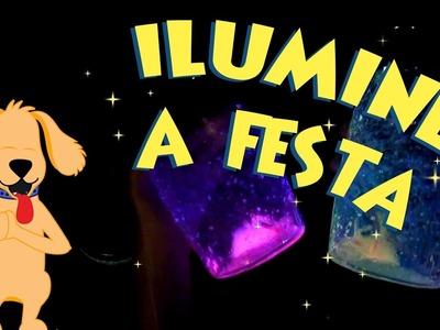 Jarra iluminada - Decoração de festa!!! - Faça junto com um adulto :)