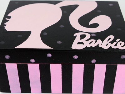Artesanato Caixa da Barbie l Porta Bijus l Pintura em MDF