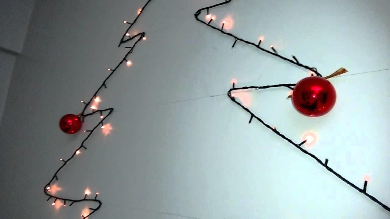 Árvore de Natal caseira