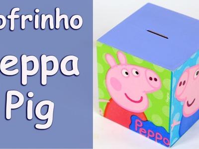 Cofrinho Peppa Pig - Decoupage com Guardanapo de Festa Infantil