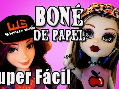 Como Fazer Boné de Papel para barbie, MH, EAH e outras bonecas coisas e acessorios