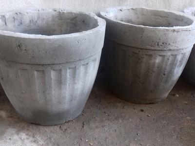 Como  fazer vaso grande de cimento