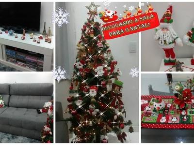 Decorando a sala para o Natal 2016