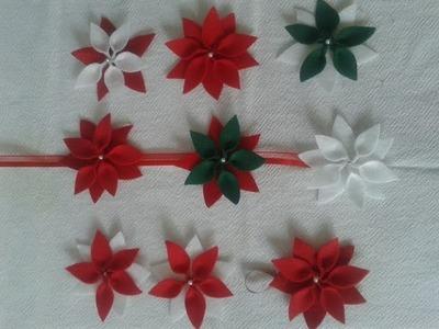 Enfeite Flor de Natal em Feltro Passo a Passo!