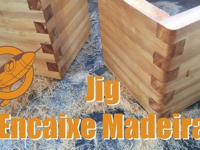 Gabarito para Encaixe em madeira tipo dedos. Finger Joint Jig
