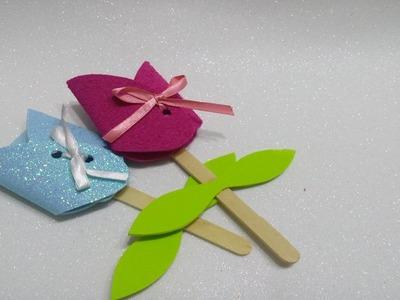 Lembrancinha de EVA - cartão de flor