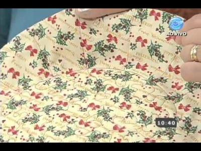 Manhã Viva - Artesanato: Cesta para a decoração do Natal - 03.12.13 - Parte 2