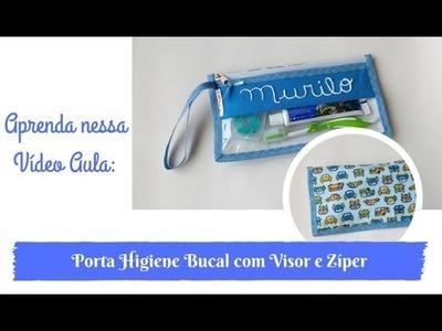 Porta Higiene Bucal com Visor e Ziper