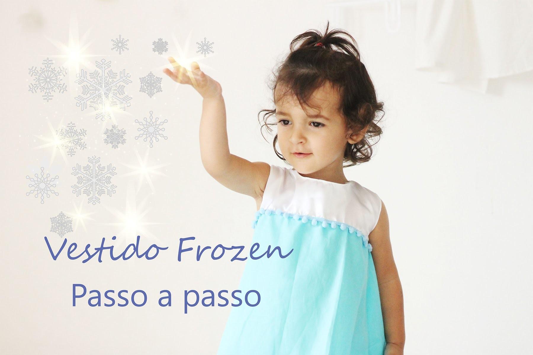 Vestido rainha Elsa passo a passo