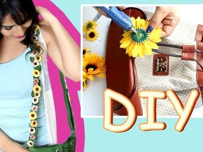 Customize suas bolsas colando flores - DIY de Primavera
