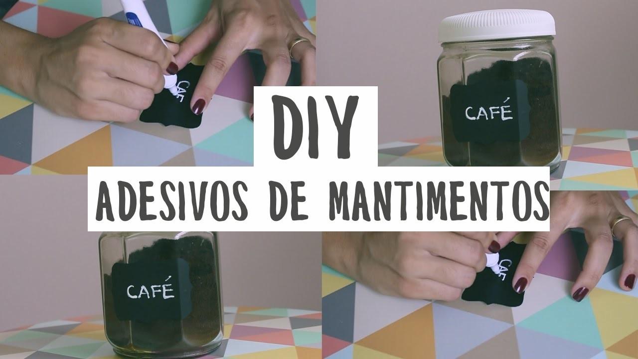 DIY - Adesivos de Mantimentos