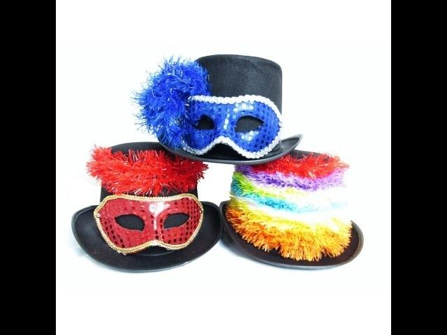 DIY Como Personalizar Cartola de Feltro para o Carnaval Fantasia de Carnaval Barata Customização