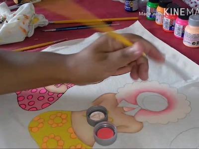 DIY Faça você mesma uma pintura em bolsa de praia.
