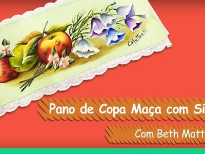 Pano de Copa Maçã e Sinos - Beth Matteelli | Vitrine do Artesanato na TV - Gazeta