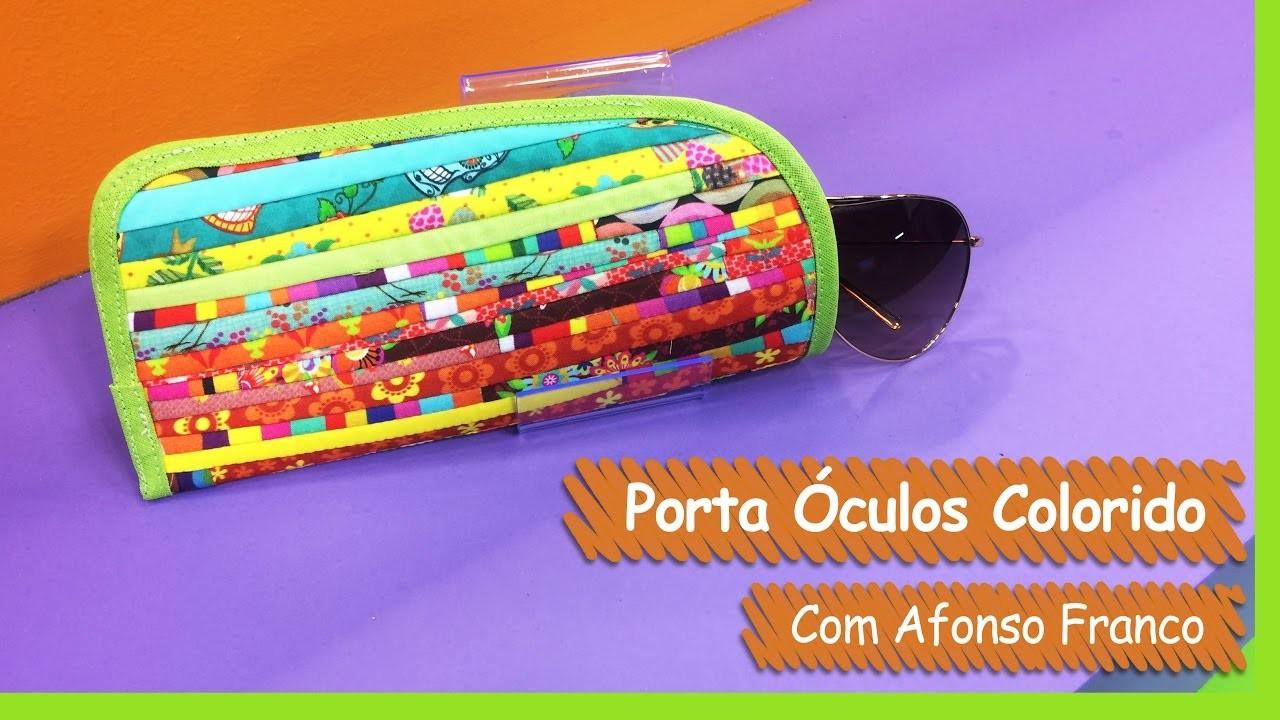 Porta Óculos Colorido - Afonso Franco | Vitrine do Artesanato na TV - Gazeta