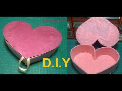 #108 - Como fazer Porta Jóias Coração.(Montagem)  Box Heart. Valentine's Day ! DIY.
