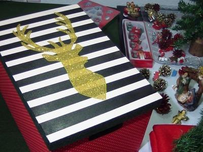 Caixa de Natal com Glitter | Má Patchwork