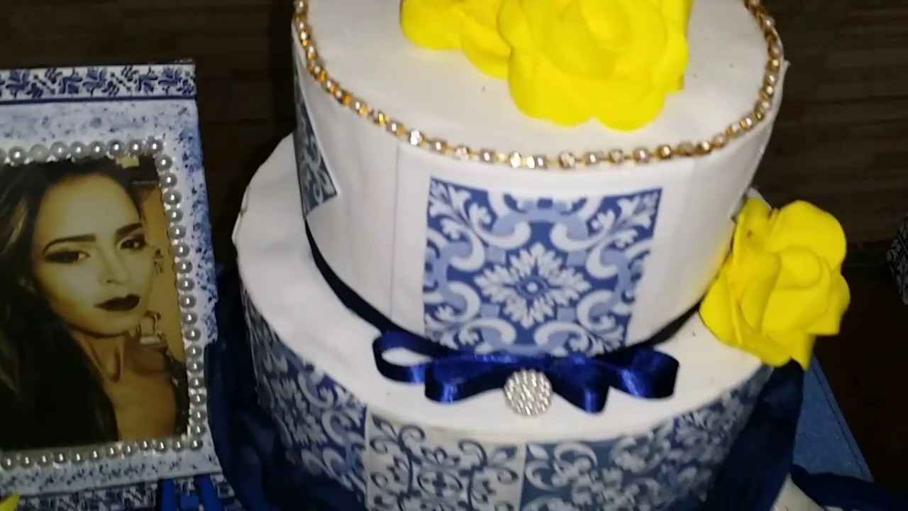Decoração  do meu aniversário. Tema : Azulejo português