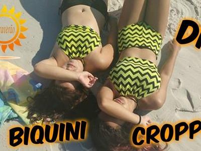 DIY ???? BIQUINI COM LEGGIN (Halter top bikini) TUMBLR #praverão