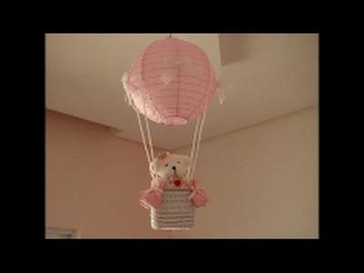 Diy: lustre infantil  de balão passo a passo
