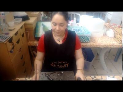 DIY - Pintura em MDF , Curso de Artesanato Técnica de Engomagem , Stencil , Renda de biscuit