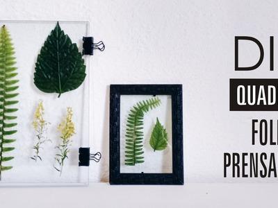 DIY | QUADRO FOLHAS PRENSADAS | Decoração de Quarto