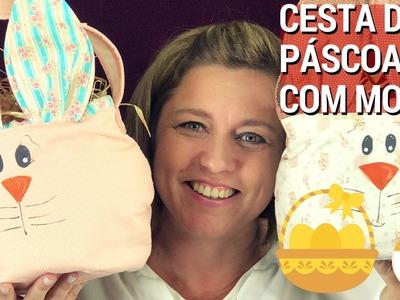 CESTA DE PÁSCOA ROSTO DE COELHO COM MOLDE- Patchwork.Costura na Drica TV