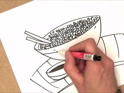 Como dibujar comida china | como dibujar comida china paso a paso