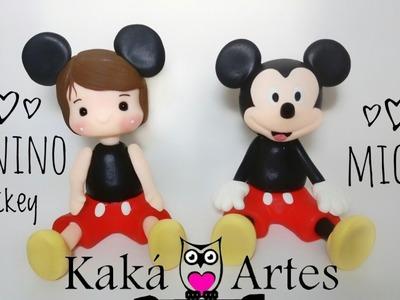 DIY - Lembrancinha ou topinho do Mickey em Biscuit feitos com moldes da Alessandra de Cassia Melo