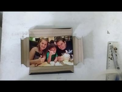 DIY - Moldura de papel cartão
